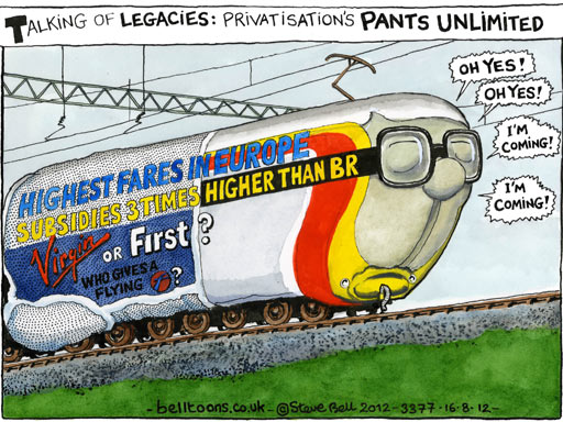 British railway , cartoon
